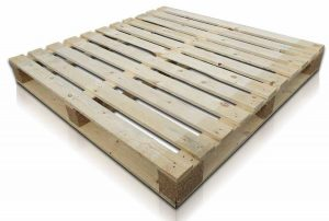 Double faced wooden pallet